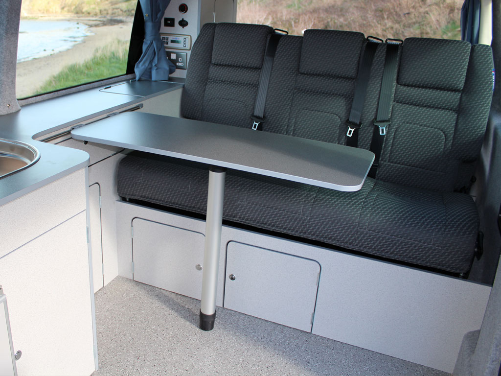 Jerba Campervans Cromarty table with triple seats