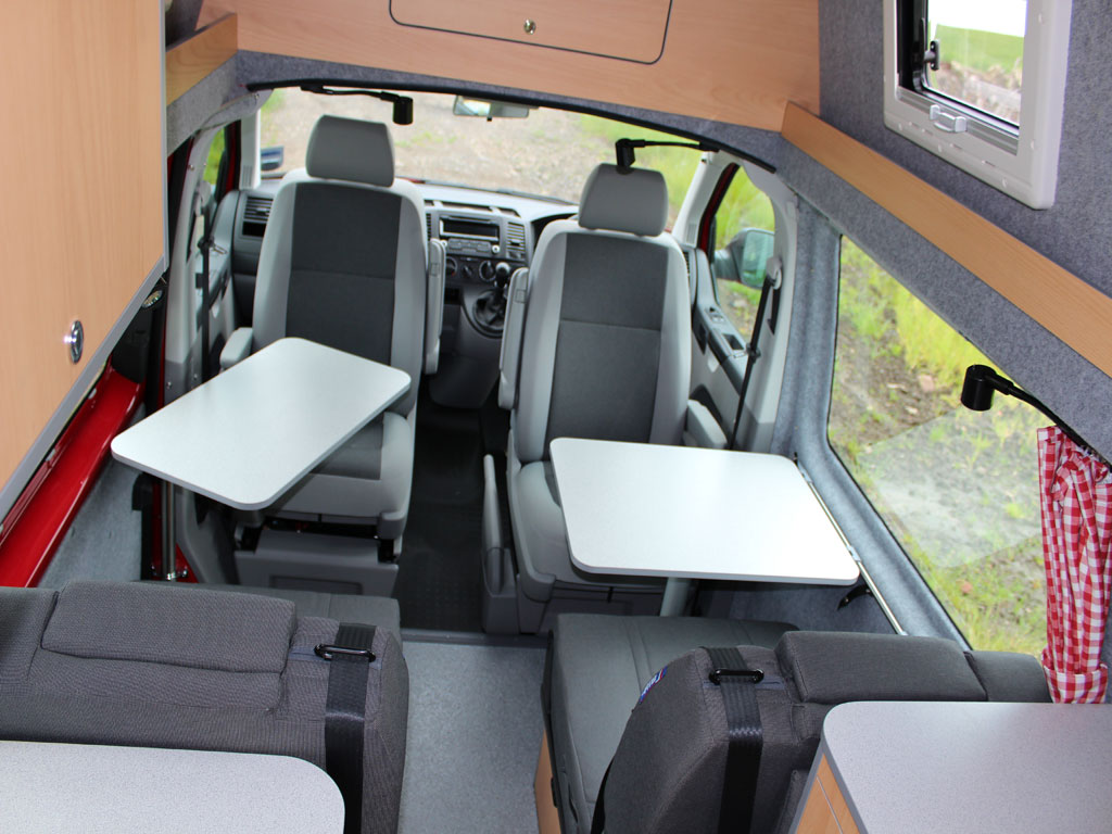 vw campervan with toilet and shower