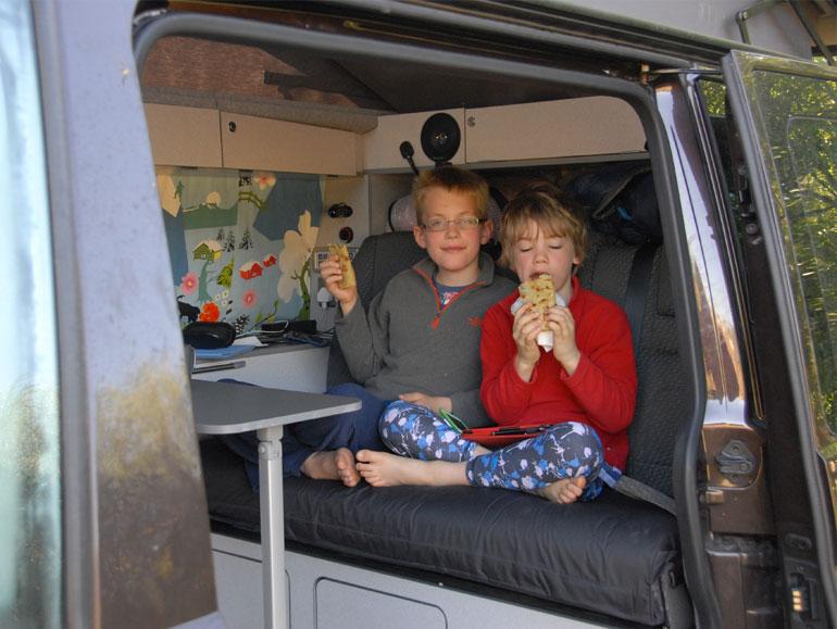 Crepes in France in a Jerba van