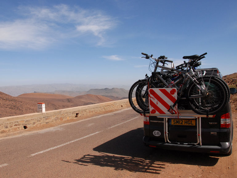 Heading into the desert in Morocco
