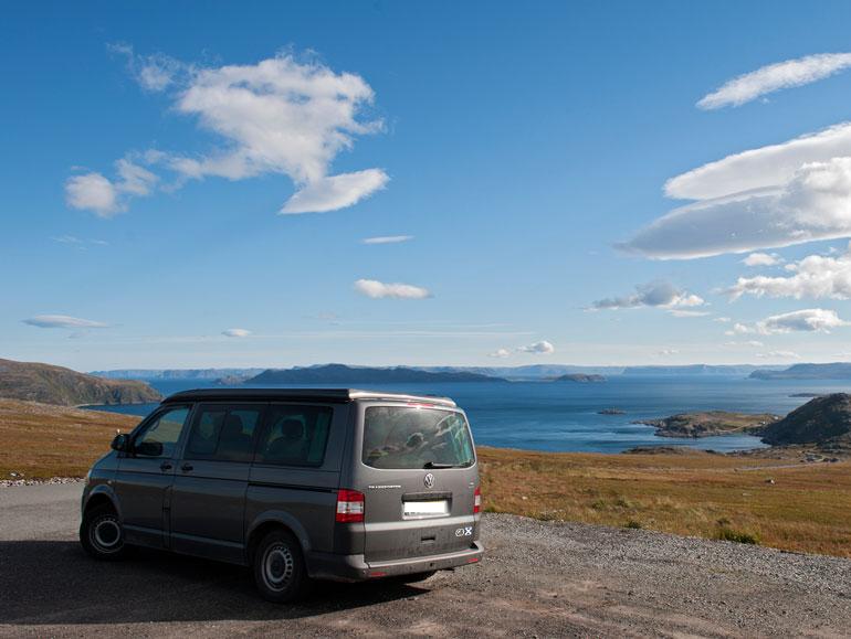 Beautiful blue Norwegian sky