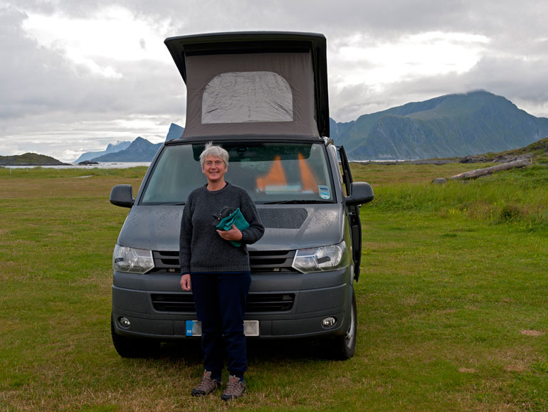 Proudly stood in front of Campervan