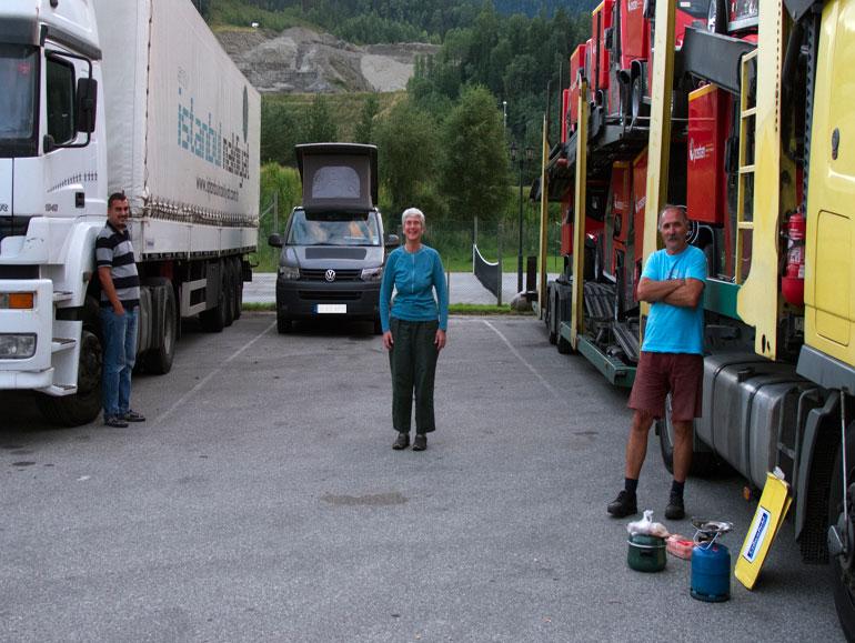 Truckstop in Norway