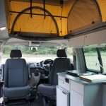 Front Seats Swivelled in camper