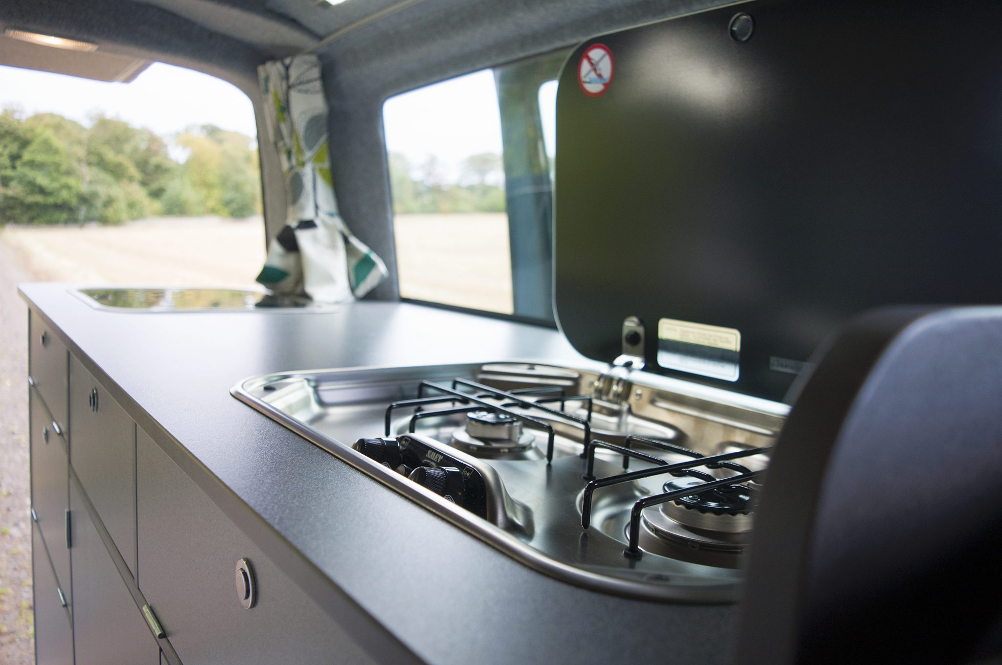 4 berth campervan with toilet