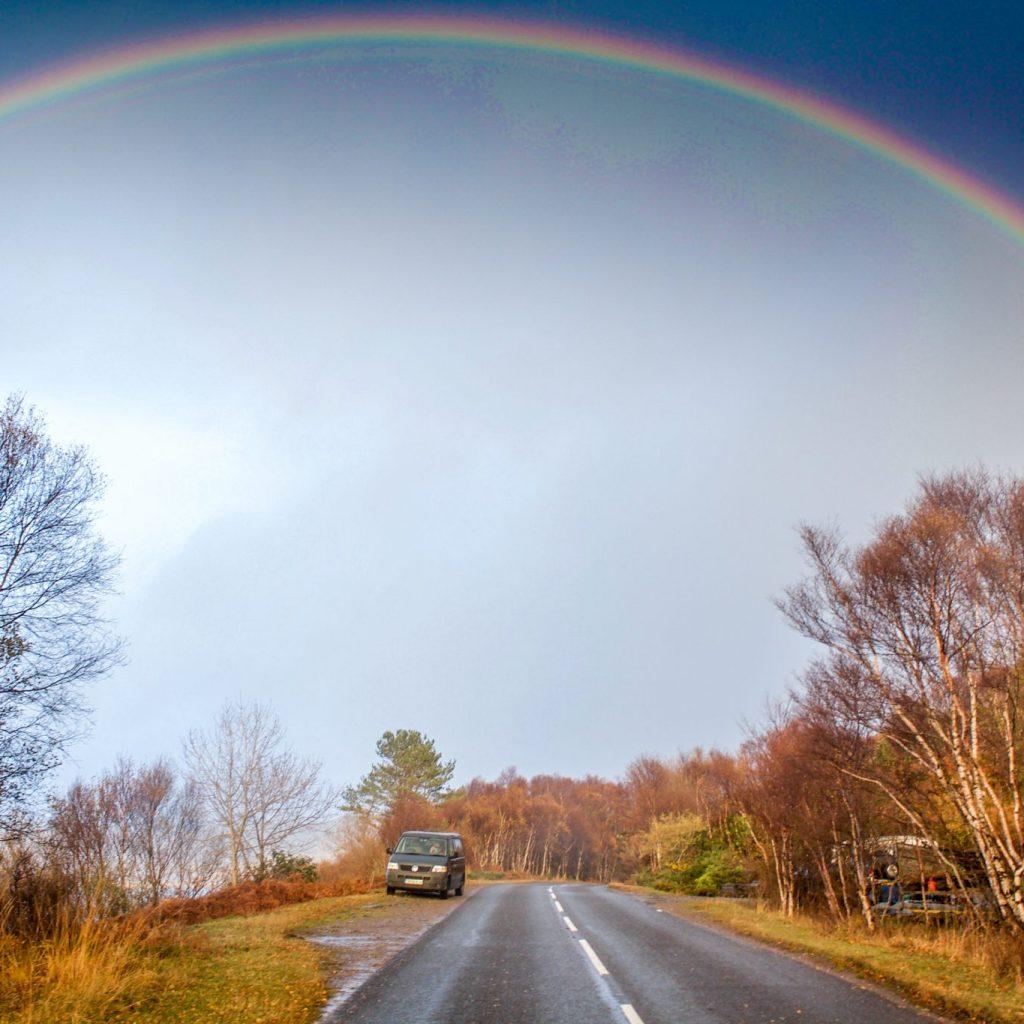 Rainbow in Loch Ailort