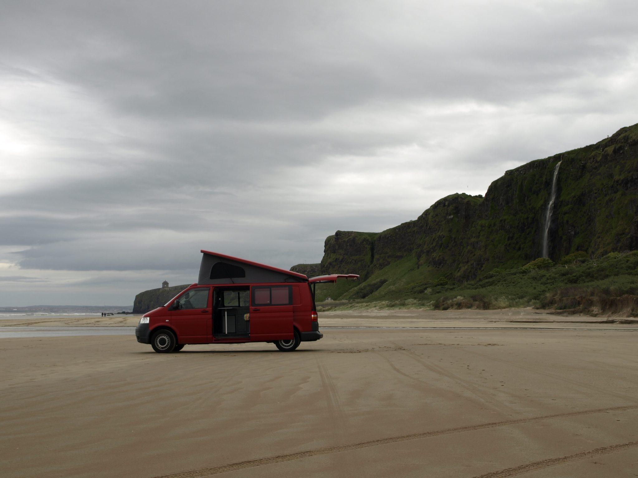 campervan beach