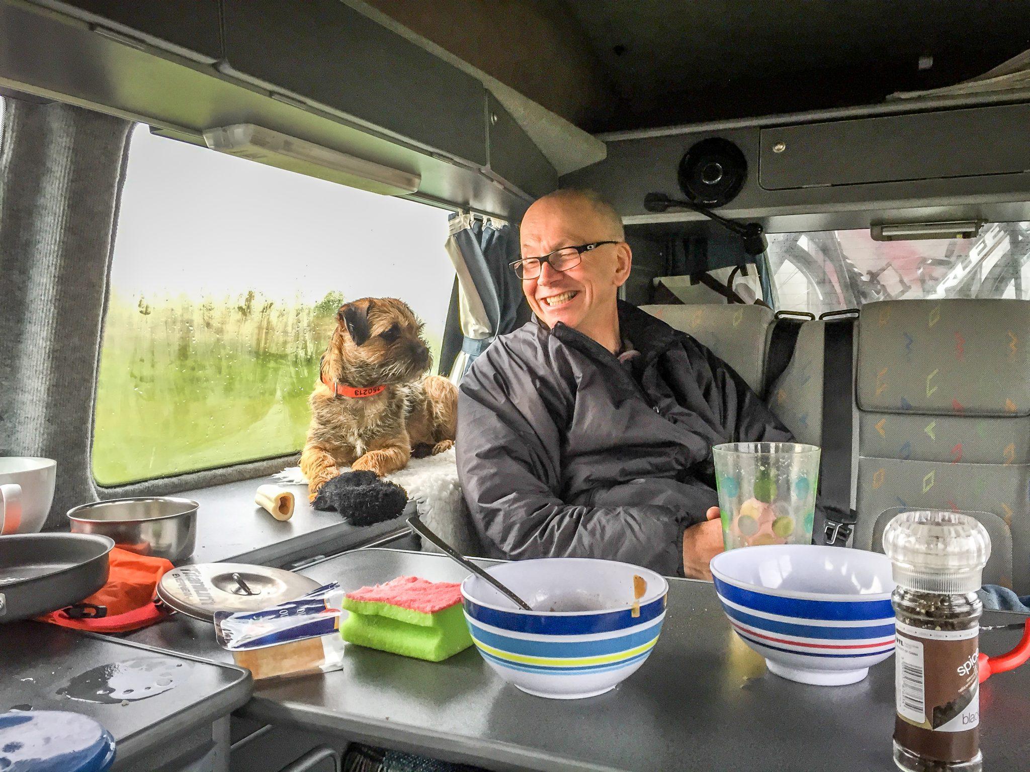 Campervan with Dog