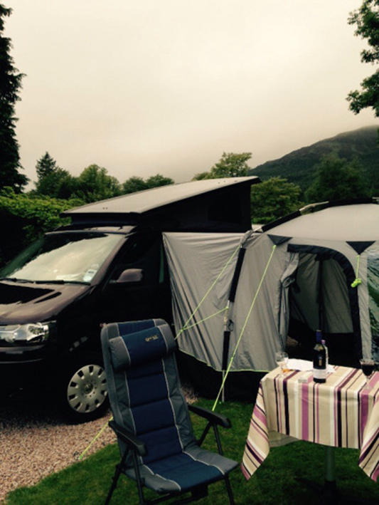 awning on Jerba campervan