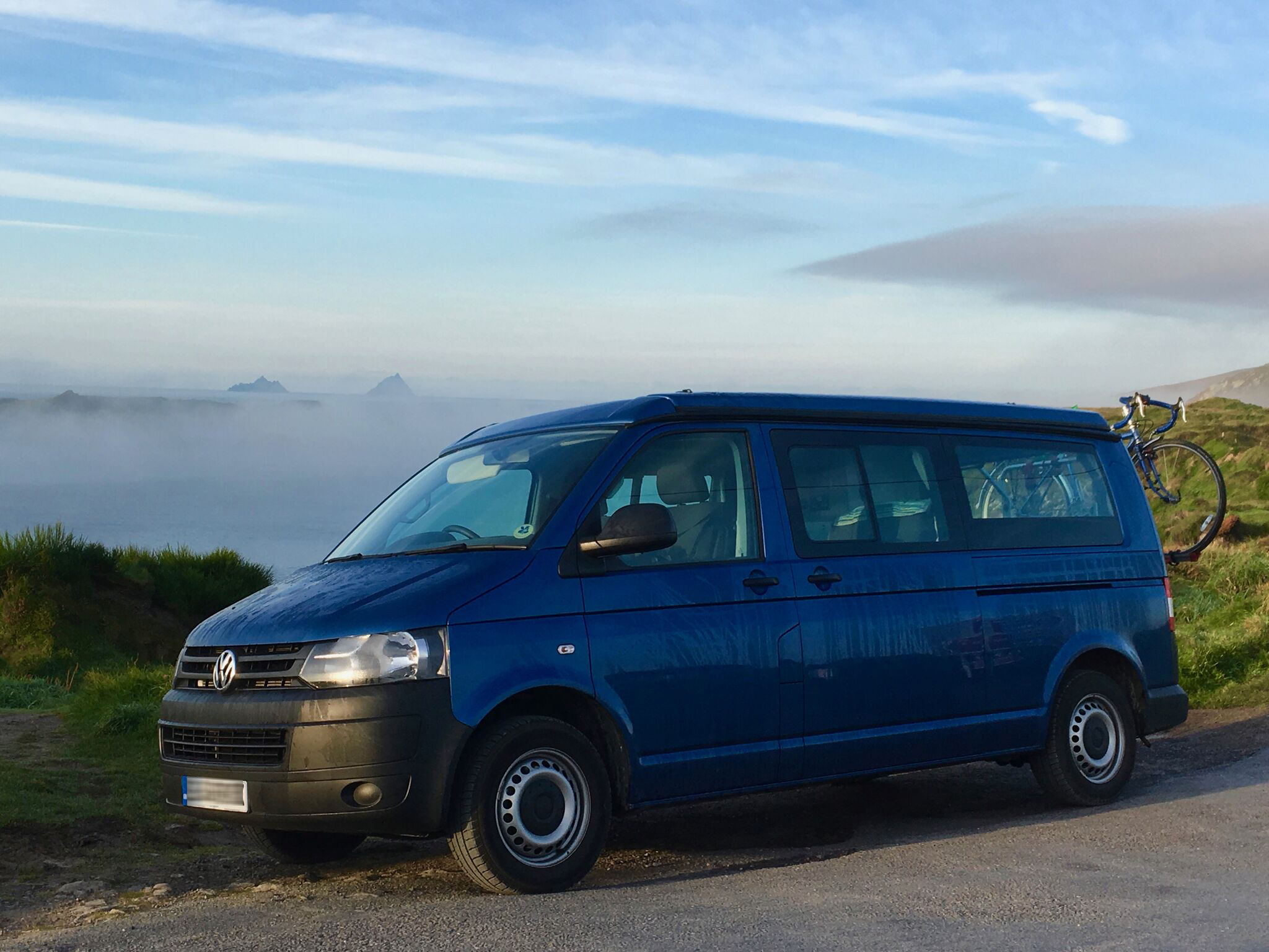 Blue T5 campervan