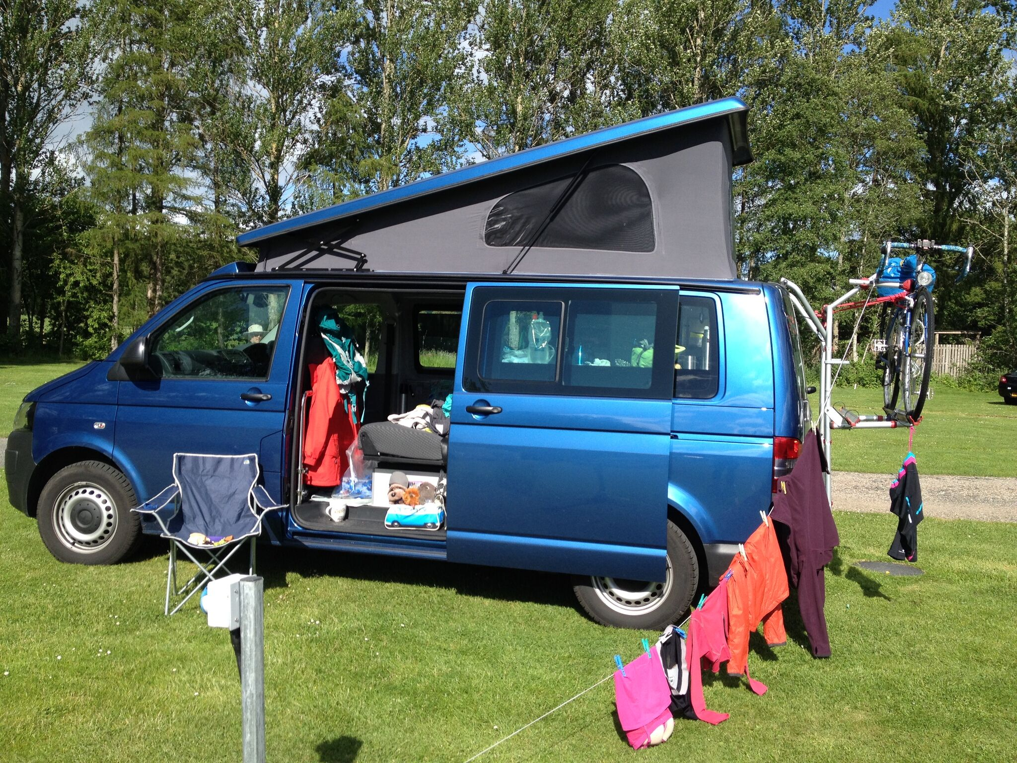 VW T5 LWB Pop up