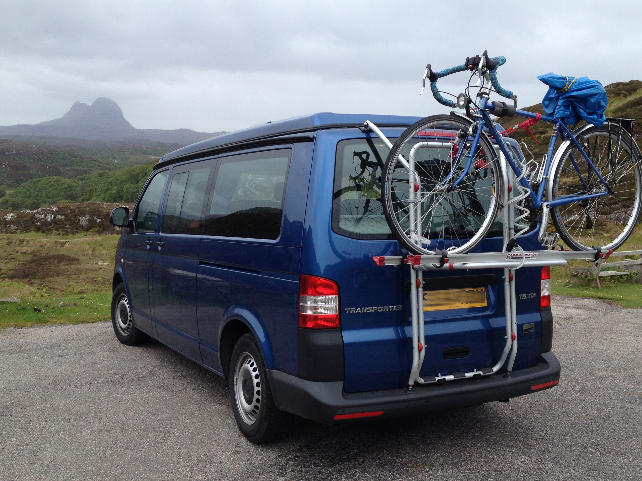 VW t5 campervan bike rack