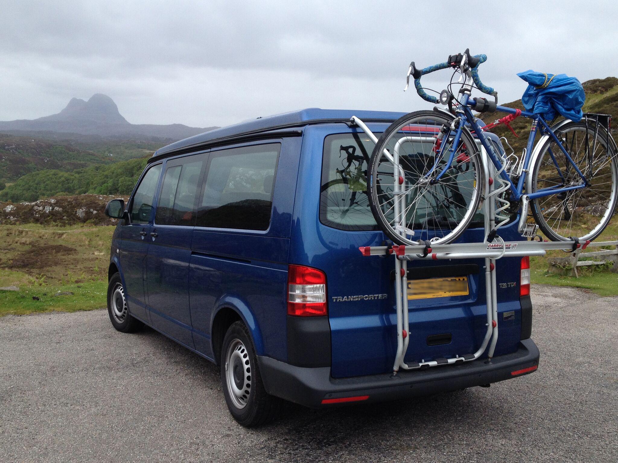 VW t5 campervan bike rack