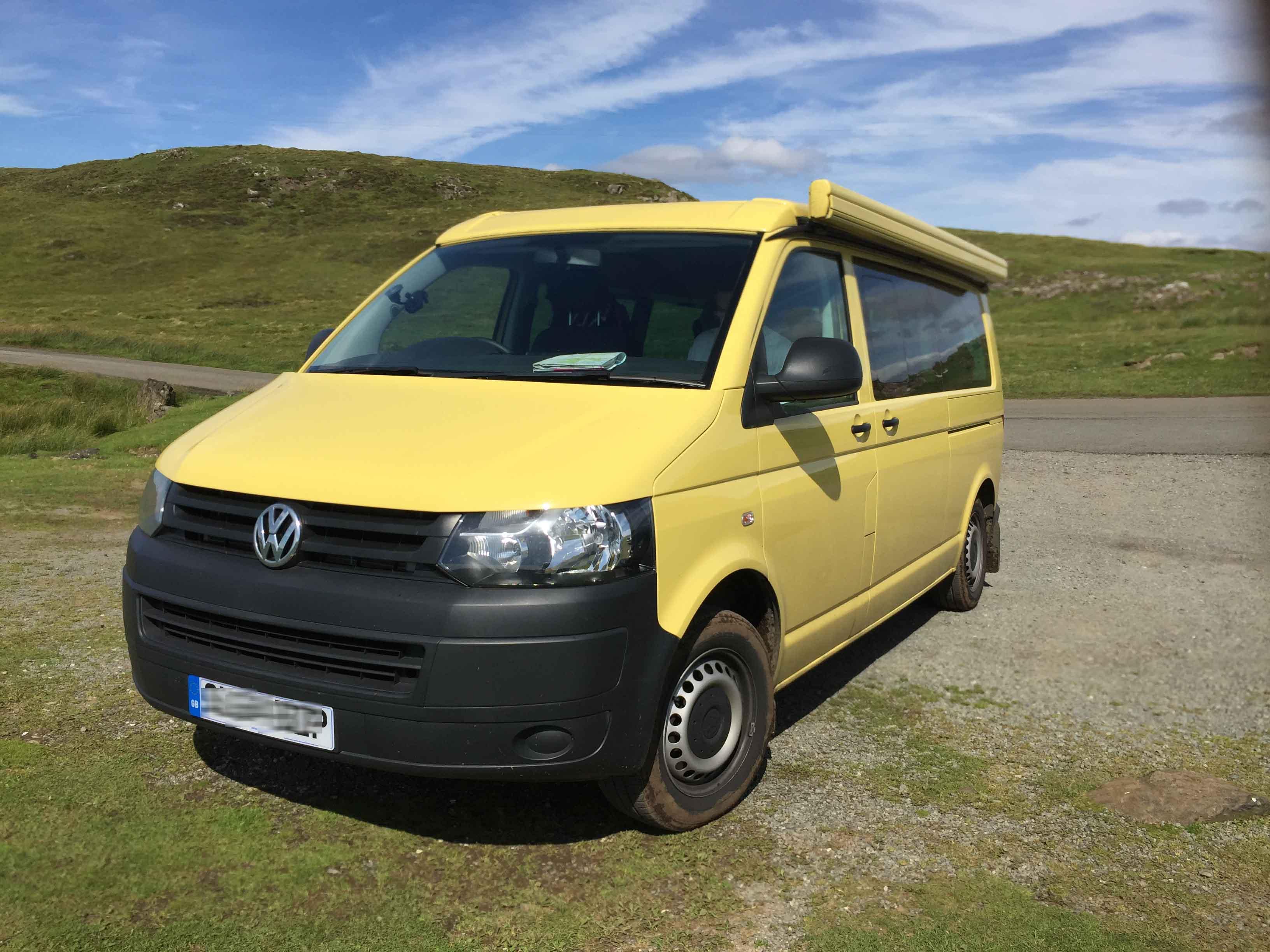 Yellow VW T5