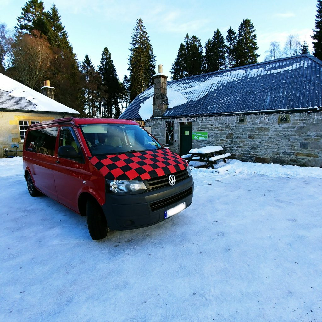 campervan in the snow