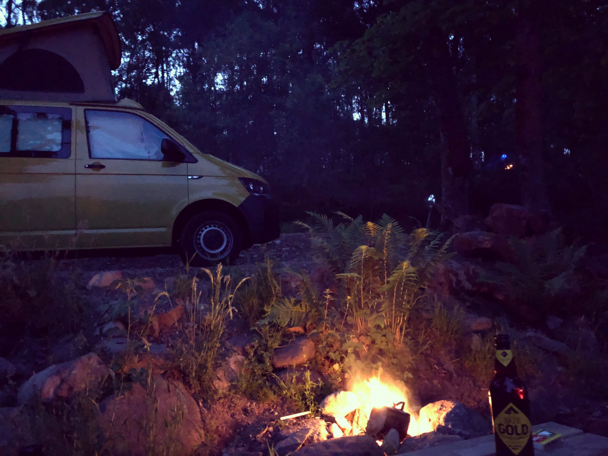 campsites with fires