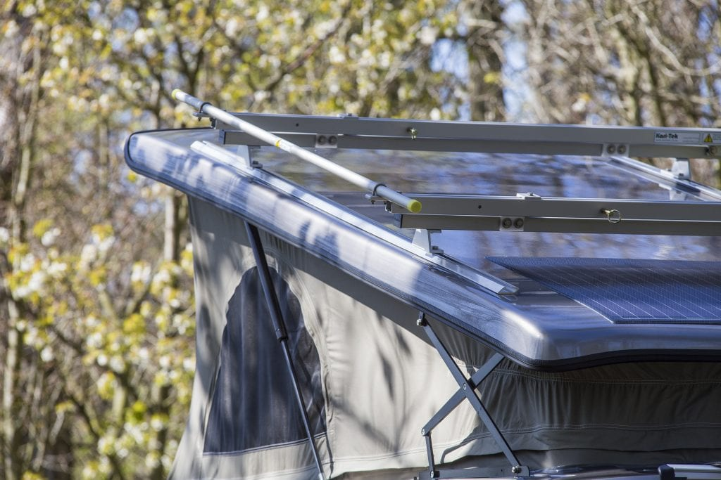 Campervan Pop Top Roof with a solar panel - bigger view